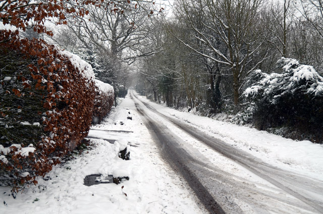 Lower Sandhurst Road in Winter